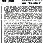 Article de Jean Boissieu du Provençal pour l'exposition du Solstice à Marseille – 1970
