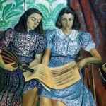 G. Severini, Le figlie di Ugo Giannattasio, huile sur toile. 1942. Madd Nelson est à droite.